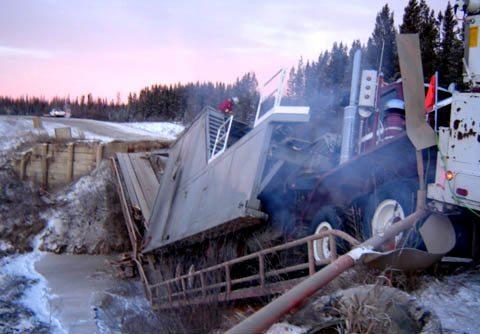 Аварии тяжелых грузовиков