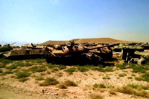 В память о погибших в Афганистане: кладбище советской бронетехники