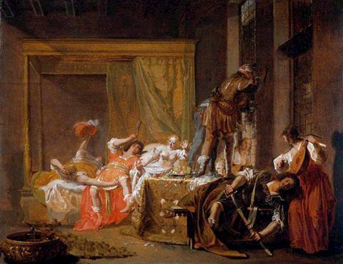 Николаус Кнюпфер (Nicolaus Knüpfer, 1603–1660). «Сцена в борделе» (1630-е).