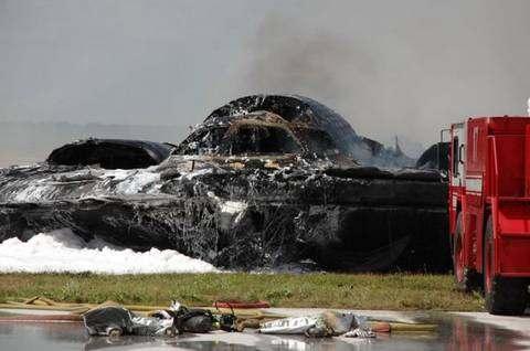 Крушение стратегического бомбардировщика B-2 (Стелс)