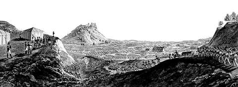 Переход «Великой армии» через Неман. Гравюра Игнация Клаубера. РИА «НОВОСТИ»