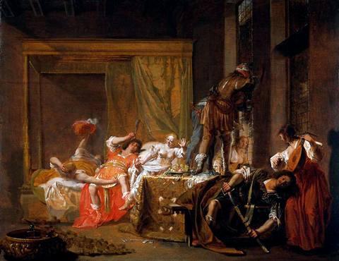 Николаус Кнюпфер. Сцена в борделе. 1630-e