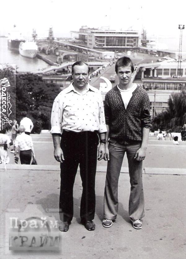 Олег Шишканов с отцом, 1979 год, Одесса