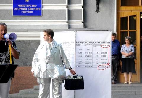 Акция протеста против коррупции в госзакупках лекарств