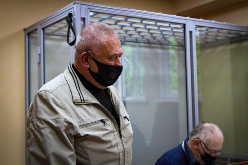 Обвиняемый Виктор Собко во время заседания в Дзержинском райсуде Харькова, 24 мая 2021 года. Фото: Ганна Соколова