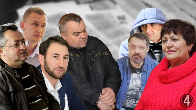 Сімка підозрюваних у отриманні хабарів на Рівненщині протягом 2015-2019 років. Деякі справи тривають вже п'ять років. Колаж «Четвертої влади» на основі власних фото